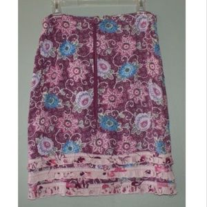 Billabong Floral Skirt Rayon Junior Womens Size 7